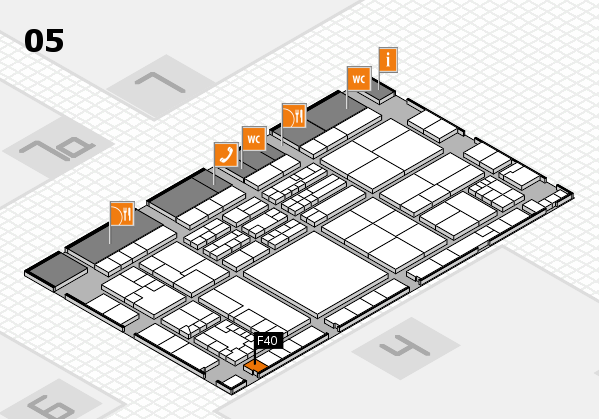 K 2016 hall map (Hall 5): stand F40