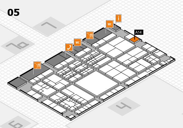 K 2016 Hallenplan (Halle 5): Stand A14