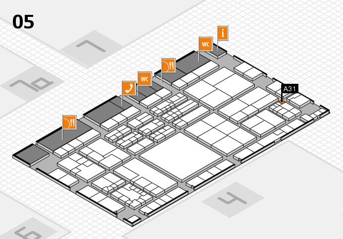 K 2016 hall map (Hall 5): stand A31