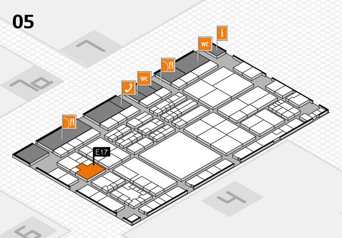 K 2016 hall map (Hall 5): stand E17