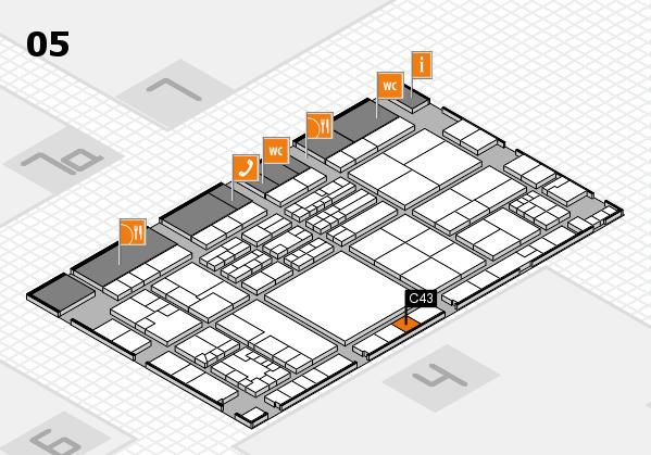 K 2016 hall map (Hall 5): stand C43