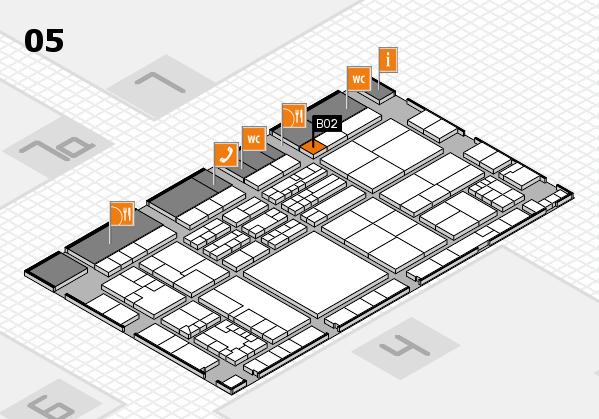 K 2016 hall map (Hall 5): stand B02