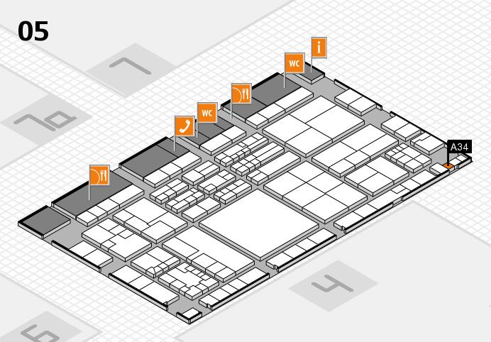 K 2016 hall map (Hall 5): stand A34