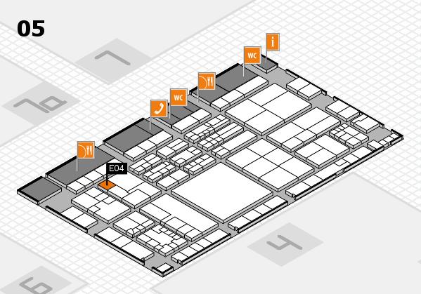K 2016 hall map (Hall 5): stand E04