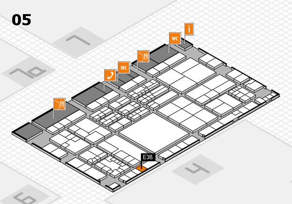 K 2016 hall map (Hall 5): stand E38