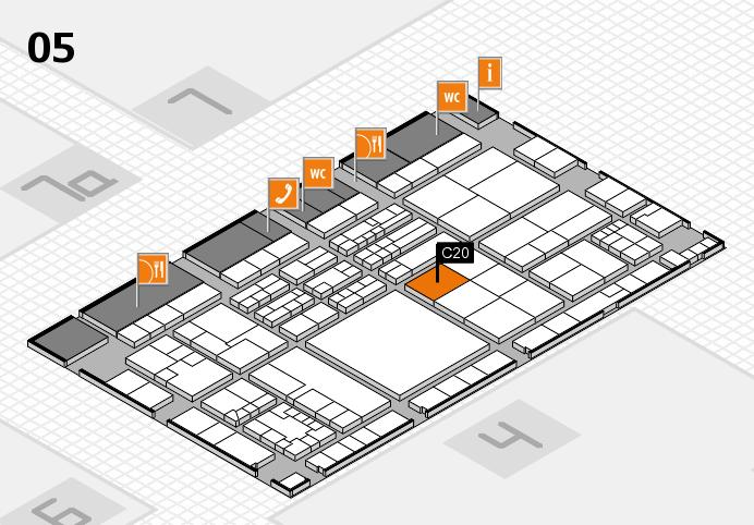 K 2016 hall map (Hall 5): stand C20