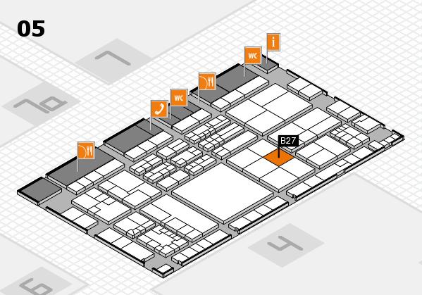 K 2016 hall map (Hall 5): stand B27