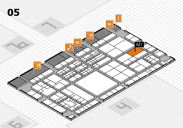 K 2016 hall map (Hall 5): stand A21