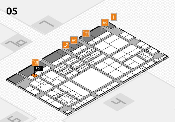 K 2016 hall map (Hall 5): stand E01