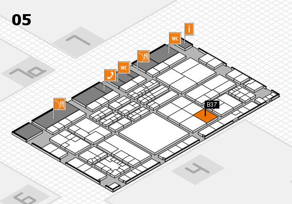 K 2016 hall map (Hall 5): stand B37