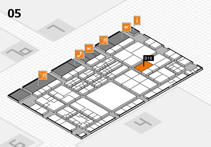 K 2016 hall map (Hall 5): stand B18
