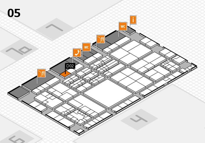 K 2016 hall map (Hall 5): stand D02