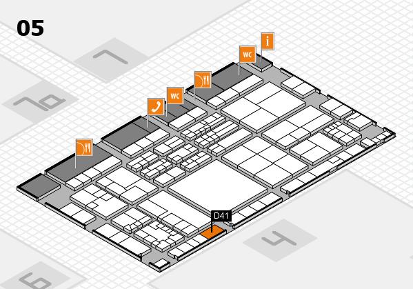 K 2016 hall map (Hall 5): stand D41