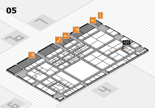 K 2016 hall map (Hall 5): stand A25