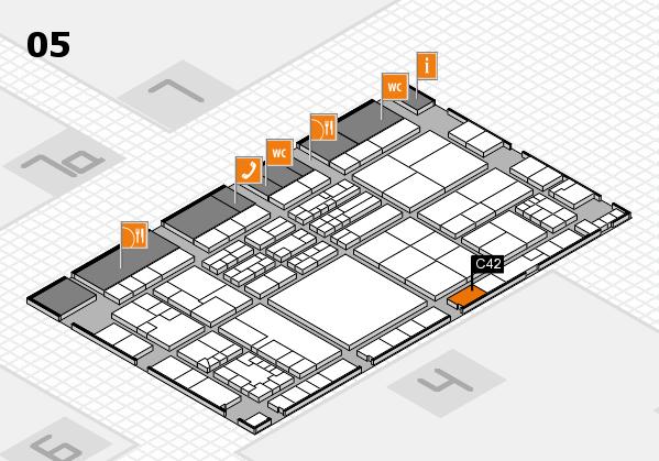 K 2016 hall map (Hall 5): stand C42