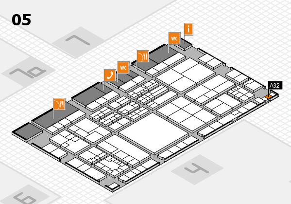 K 2016 hall map (Hall 5): stand A32