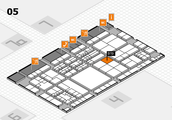 K 2016 hall map (Hall 5): stand B19