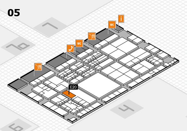 K 2016 hall map (Hall 5): stand E20