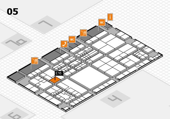 K 2016 Hallenplan (Halle 5): Stand E16
