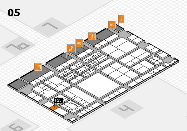 K 2016 hall map (Hall 5): stand F25