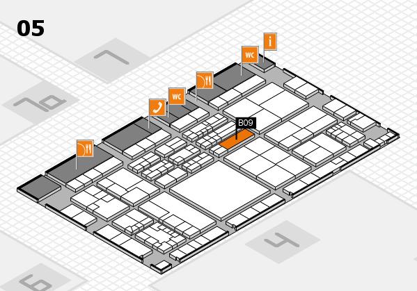 K 2016 hall map (Hall 5): stand B09