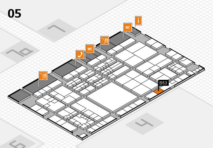 K 2016 hall map (Hall 5): stand B53