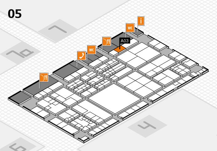 K 2016 hall map (Hall 5): stand A03