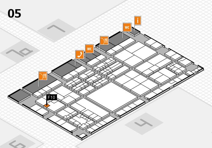 K 2016 hall map (Hall 5): stand F10