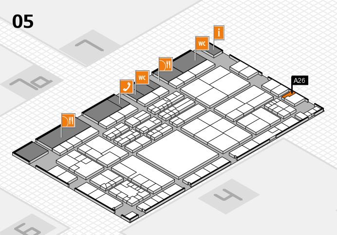 K 2016 hall map (Hall 5): stand A26