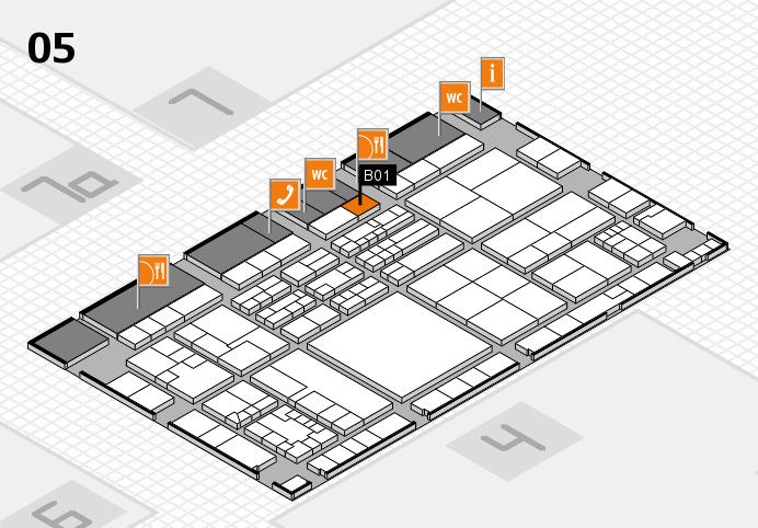 K 2016 hall map (Hall 5): stand B01