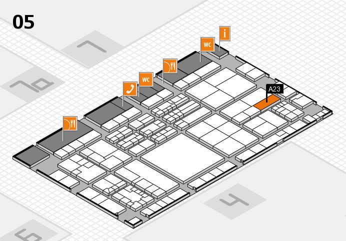 K 2016 hall map (Hall 5): stand A23