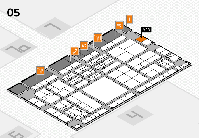 K 2016 hall map (Hall 5): stand A06