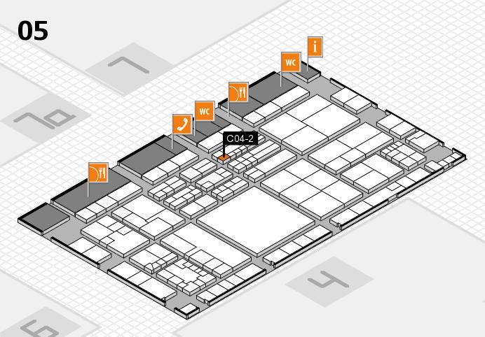 K 2016 hall map (Hall 5): stand C04-2