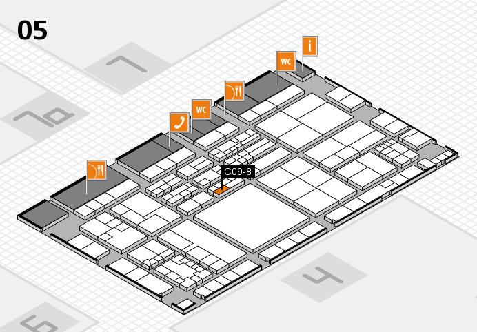 K 2016 hall map (Hall 5): stand C09-8