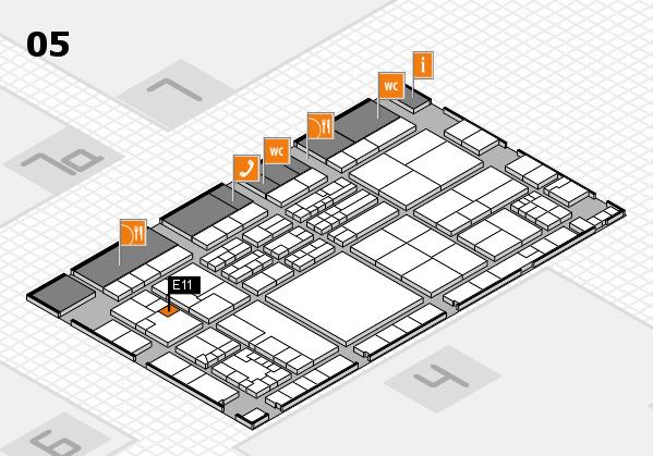 K 2016 hall map (Hall 5): stand E11