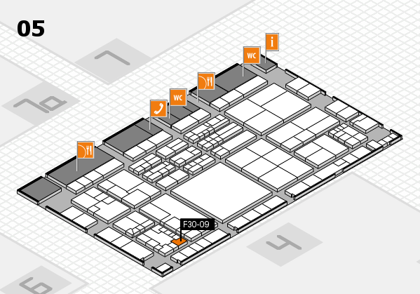 K 2016 hall map (Hall 5): stand F30-09