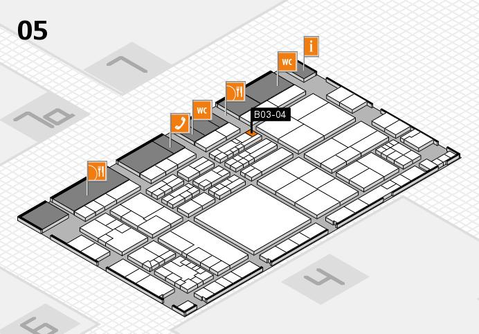 K 2016 hall map (Hall 5): stand B03-04