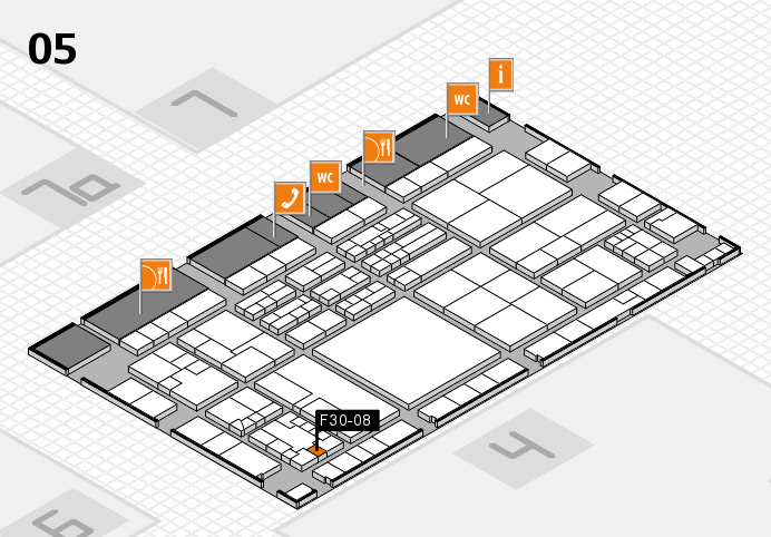 K 2016 hall map (Hall 5): stand F30-08