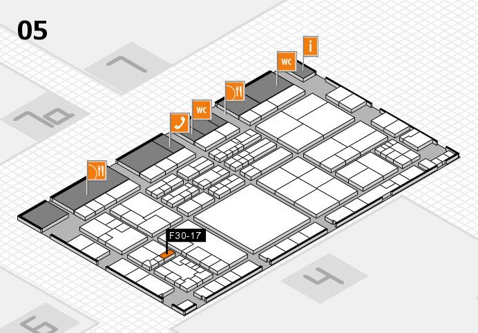 K 2016 hall map (Hall 5): stand F30-17