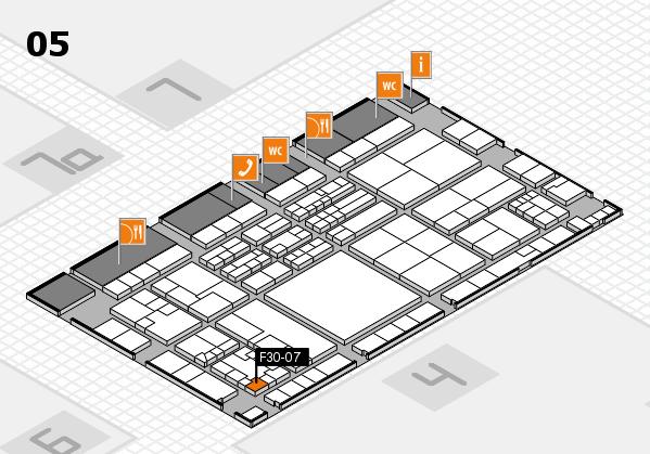 K 2016 hall map (Hall 5): stand F30-07
