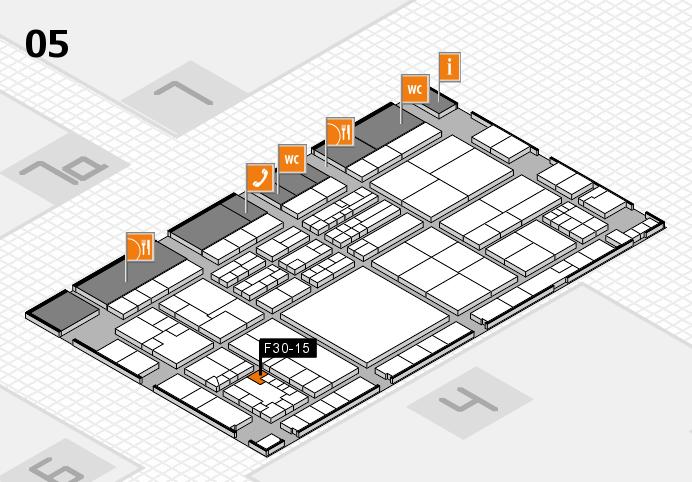 K 2016 hall map (Hall 5): stand F30-15