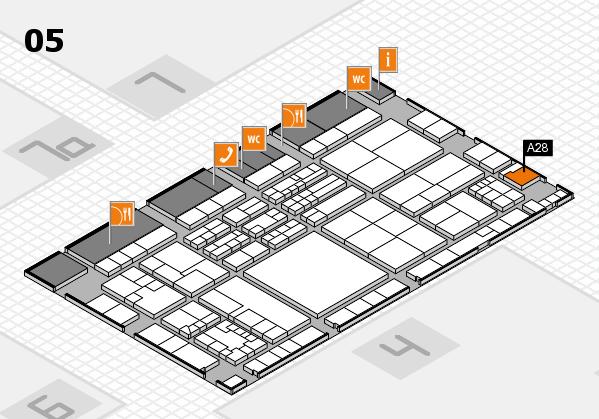 K 2016 hall map (Hall 5): stand A28
