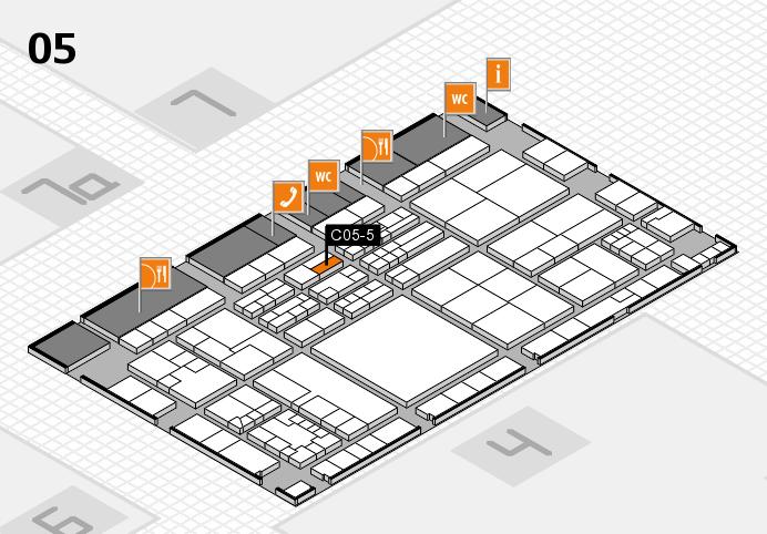 K 2016 hall map (Hall 5): stand C05-5