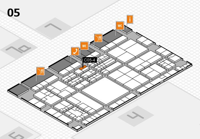 K 2016 hall map (Hall 5): stand C05-4