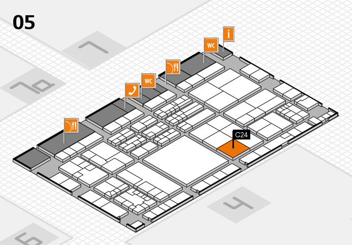 K 2016 hall map (Hall 5): stand C24