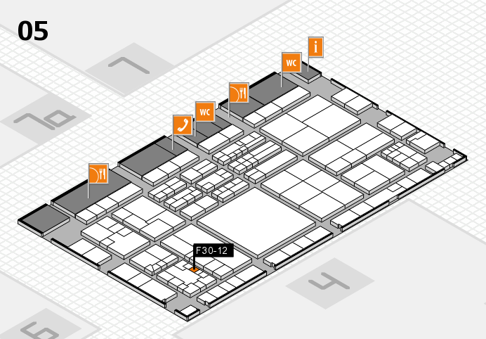 K 2016 hall map (Hall 5): stand F30-12