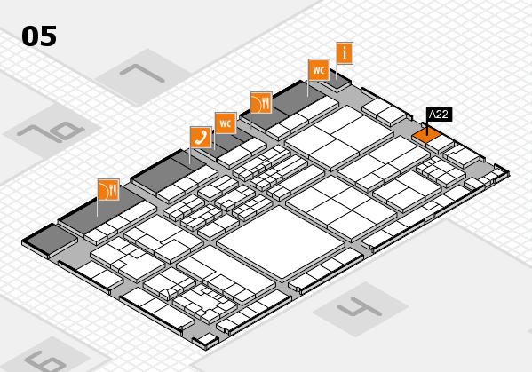 K 2016 Hallenplan (Halle 5): Stand A22