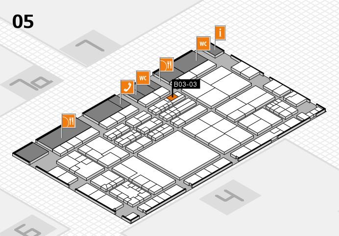 K 2016 hall map (Hall 5): stand B03-03
