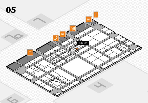 K 2016 hall map (Hall 5): stand B05-05