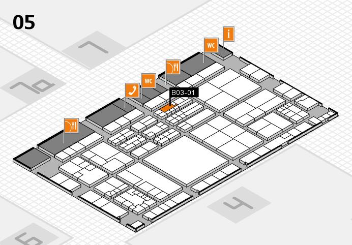 K 2016 hall map (Hall 5): stand B03-01